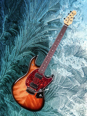 Photograph - Guitar On Crystals by Steven Parker
