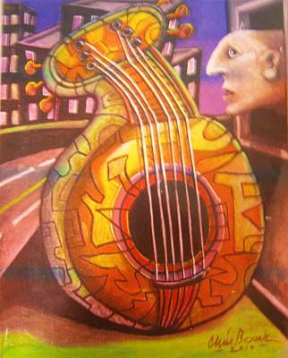 Painting - Guitar Out My Window by Chris Boone