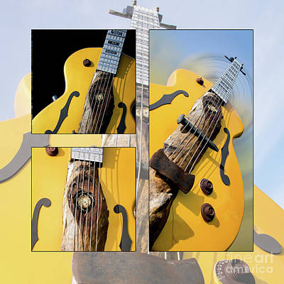 Photograph - Guitar Picking Collage by Deborah Klubertanz