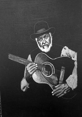 Painting - Guitar Player by Richard Le Page