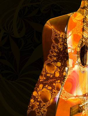 Digital Art - Guitar - Shape - Musical Instruments by Anastasiya Malakhova