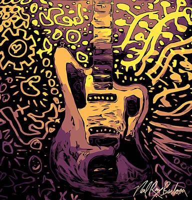 Guitar Slinger Art Print
