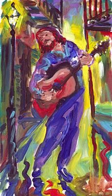 Guitar Solo Art Print by Saundra Bolen Samuel