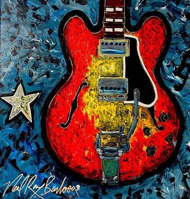Painting - Guitar Star Es335 by Neal Barbosa