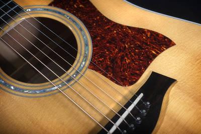 Black Top Digital Art - Guitar by Steve Shockley