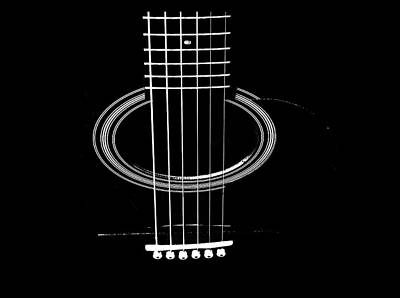 Digital Art - Guitar Strings by Susan Stone