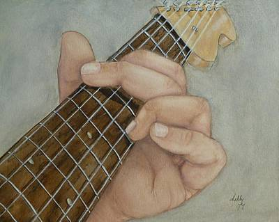 Guitar Strumming In 'g' Cord Art Print