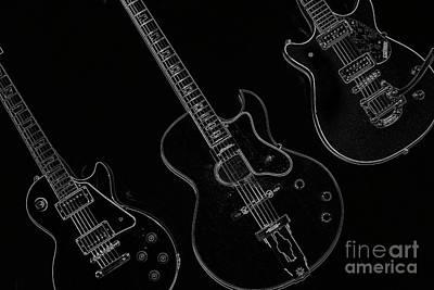 Guitar Trio Art Print by Karol Livote