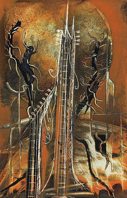 Painting - Guitar World by Jason Girard