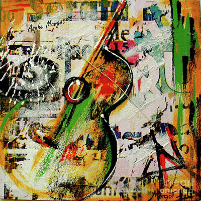 Guitare Painting - Guitare Graf by Margot Asphe