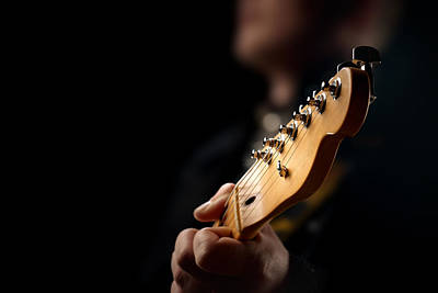 Guitarist Close-up Art Print by Johan Swanepoel