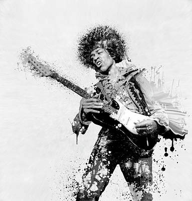 Star Spangled Banner Digital Art - Guitarist by Daniel Hagerman