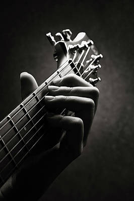 Photograph - Guitarist Hand Close-up by Johan Swanepoel