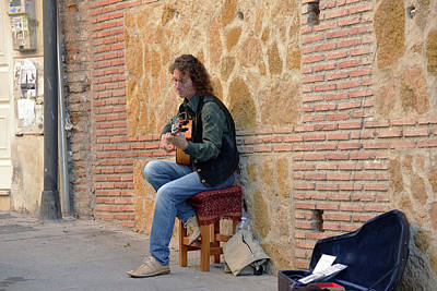 Photograph - Guitarist On The Cuesta De Gomerez by Harvey Barrison