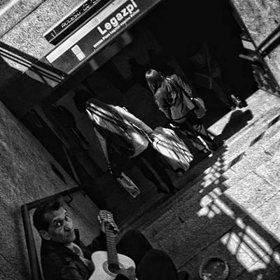 Guitar Photograph - Guitarist #music #guitar #streetmusic by Rafa Rivas