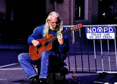 Photograph - Guitarman by Helen Haw