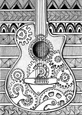 Guitarra No 2 Art Print by Delein Padilla