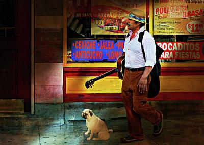 Photograph - Guitarra Y Mi Perro by Diana Angstadt