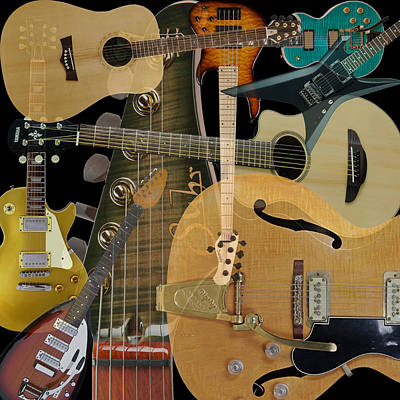 Photograph - Guitars by Andrew Fare