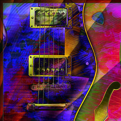 Digital Art - Guitars by Barbara Berney