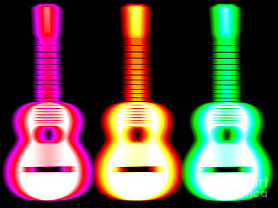 Guitars Digital Art - Guitars On Fire by Andy Smy