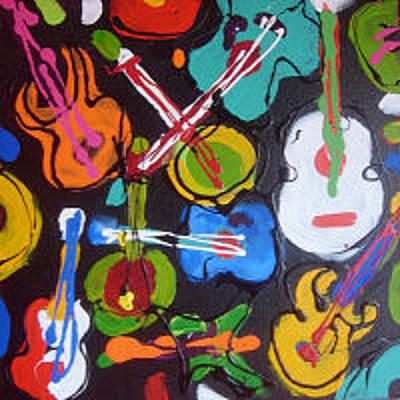 Painting - Guitars by Sarah LaRose Kane