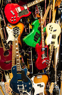 Photograph - Guitars by Suzanne Luft
