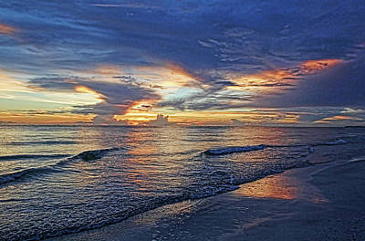 Photograph - Gulf Beach At Sunset  by HH Photography of Florida