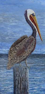 Painting - Gulf Coast Brown Pelican by Suzanne Theis