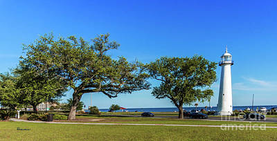 Photograph - Gulf Coast Lighthouse Seascape Biloxi Ms 3663b by Ricardos Creations