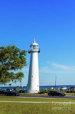 Photograph - Gulf Coast Lighthouse Seascape Biloxi Ms 3663c by Ricardos Creations