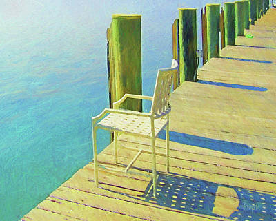 Digital Art - Gulf Coast Pier by Rebecca Korpita