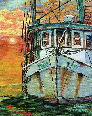 Gulf Coast Shrimper Art Print