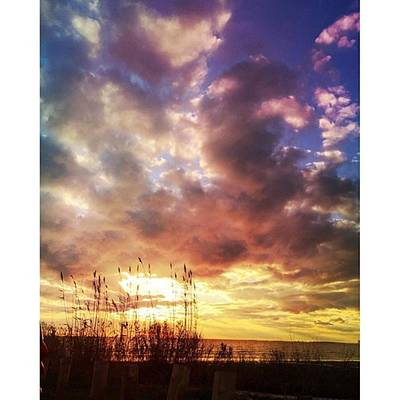 Sunset Wall Art - Photograph - Gulf Coast Sunset #clouds #sunset by Joan McCool