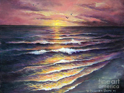 Painting - Gulf Coast Sunset by Deborah Smith