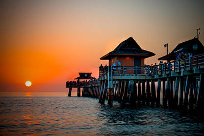 Gulf Coast Sunset Art Print by Ed Roth