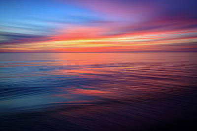 Photograph - Gulf Coast Sunset Ocean Abstract by R Scott Duncan