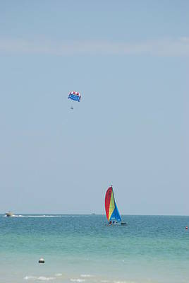 Abstract Airplane Art - Gulf Of Mexico Activity by Rob Hans