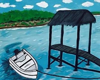 Painting - Gulf Of Mexico Painting. Original Acrylic Painting On Canvas by Jonathon Hansen