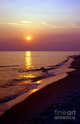 Gulf Of Mexico Sunset Art Print by Thomas R Fletcher