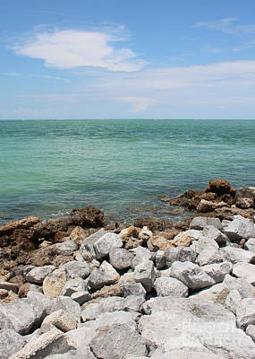 Photograph - Gulf Of Mexico With Rocks And Blue Sky by Carol Groenen