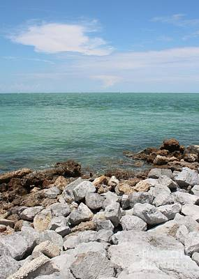Photograph - Gulf Of Mexico With Rocks And Sky by Carol Groenen
