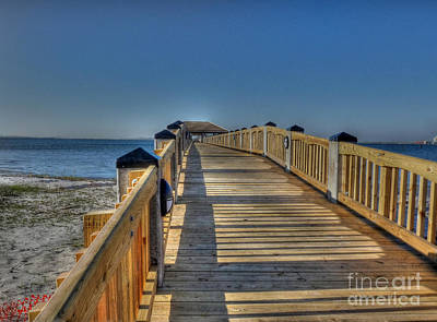 Photograph - Gulf Pier by David Bearden