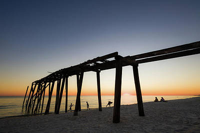 Photograph - Gulf Pier by Kurt Lischka
