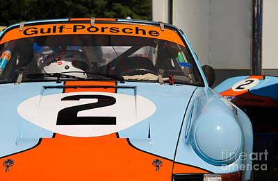 Gulf Porsche Art Print by Andrew  Cragin