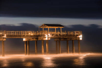 Photograph - Gulf Shore State Park Pier Blue Hour  by John McGraw