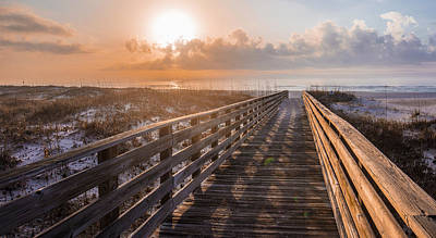 Photograph - Gulf Shore Sunrise And Boardwalk by John McGraw