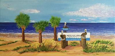 Painting - Gulf Shore Welcome by Jane Ricker