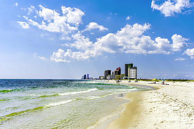 Photograph - Gulf Shores Al Beach Seascape 1746a by Ricardos Creations