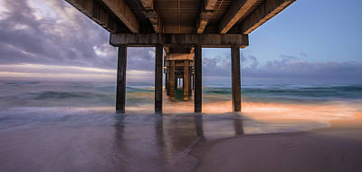 Photograph - Gulf Shores Alabama Pier Sunrise  by John McGraw